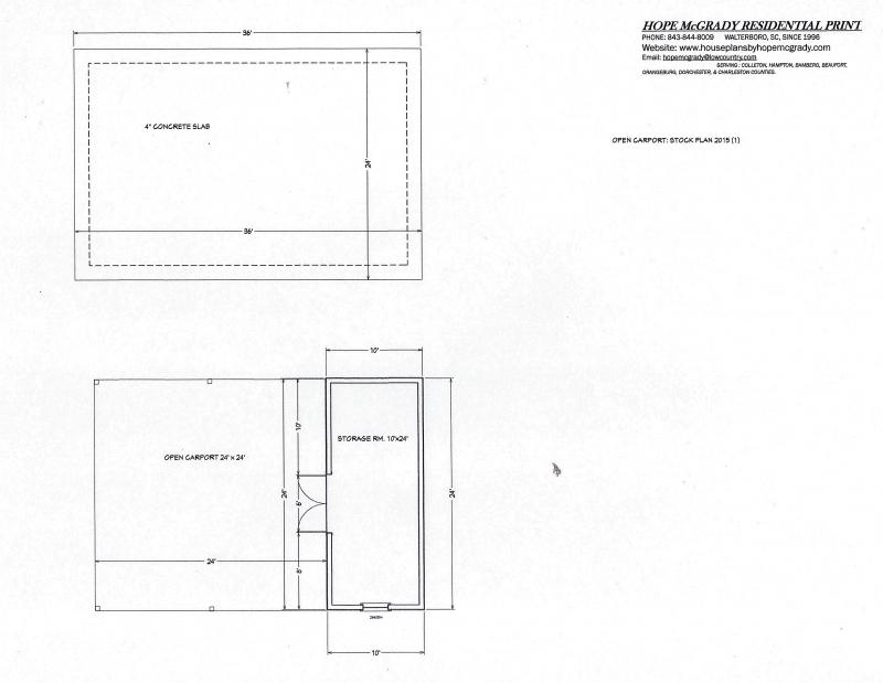 House Plans By Hope Mcgrady - Carport Plans